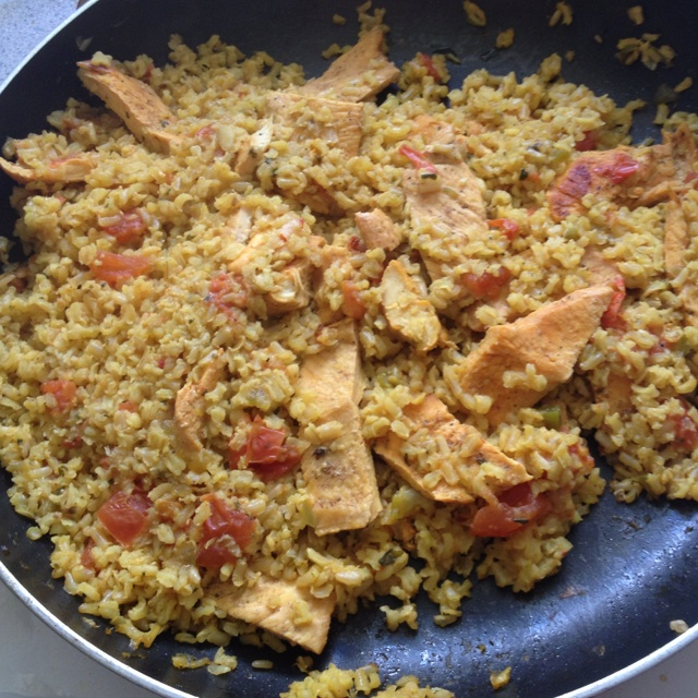 Arroz con Pollo, lightened up. I used the recipe from here, but uses ...