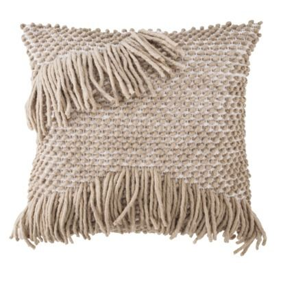Decorative Throw Pillows With Fringe : fringe pillow Home Pinterest