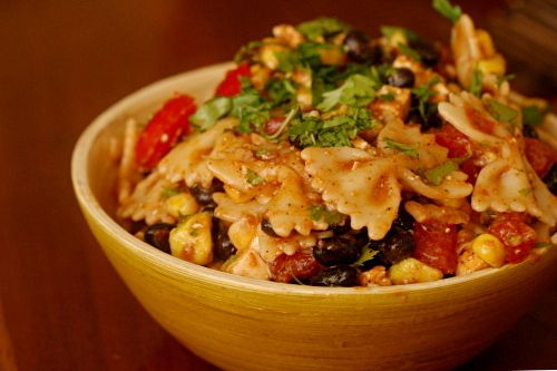 Taco Pasta Salad (made this last night, but I added a little bit of S ...