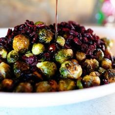 Brussels Sprouts With Balsamic And Cranberries. (change the sugar to ...