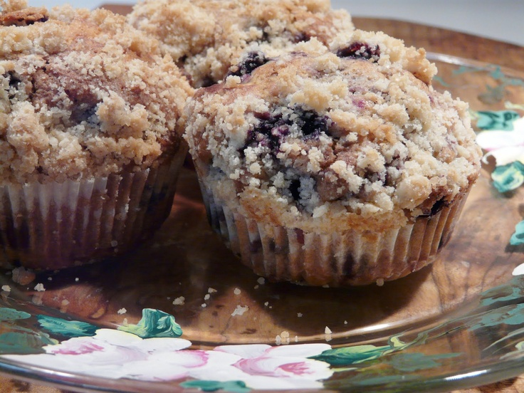 Coffee Bar: Browned Butter Blueberry Muffins!