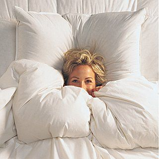 Feather down pillows, 400-thread-count Egyptian cotton sheets, down comforter. Aaahhh.