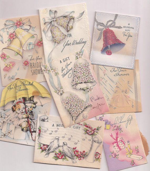 Greeting On Wedding Gift : Wedding Gift Cards Bridal Shower Congratulations Mini Greetings ...