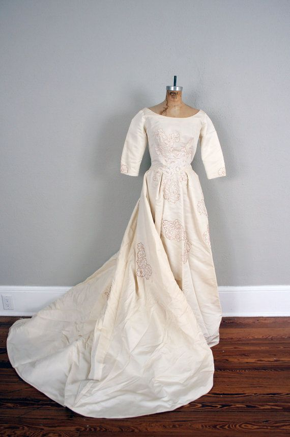 Vintage Wedding Dress 1940s Ivory Wedding Dress