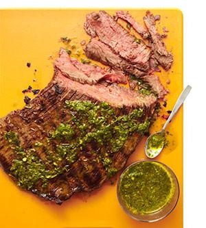 Grilled Skirt Steak With Herb Salsa Verde Recipe — Dishmaps