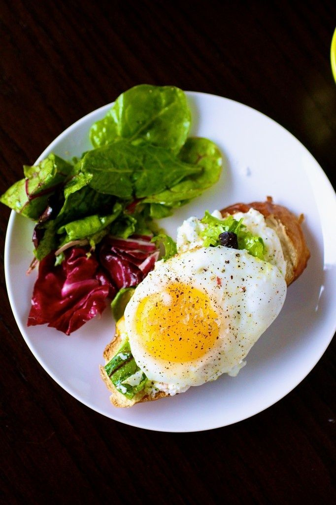 Open-Faced Egg Sandwiches | Eggs | Pinterest