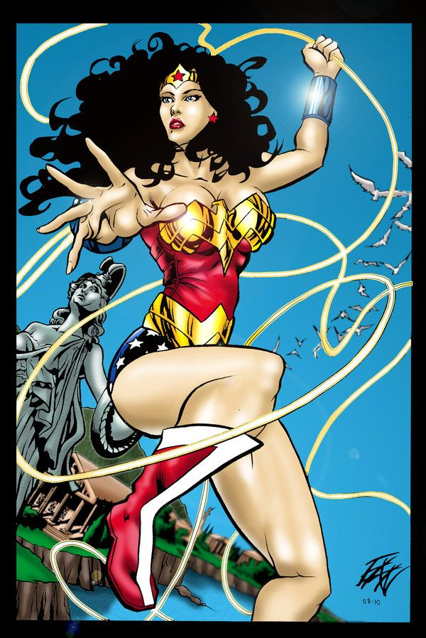 Diana over Themyscira by *ericalannelson