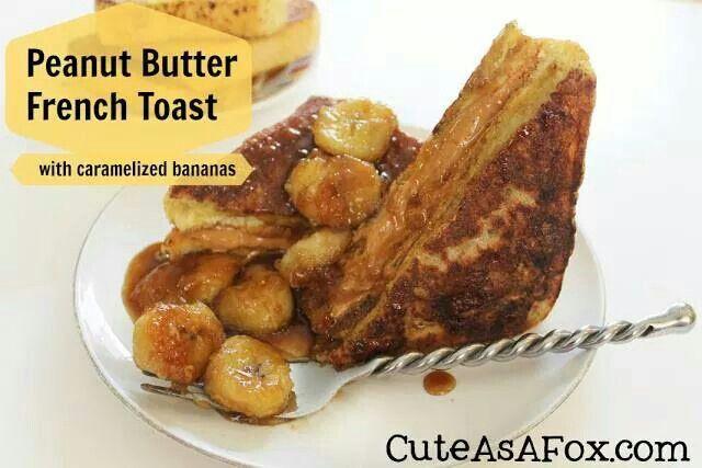 French Toast w/Caramelized Bananas | Receipies | Pinterest