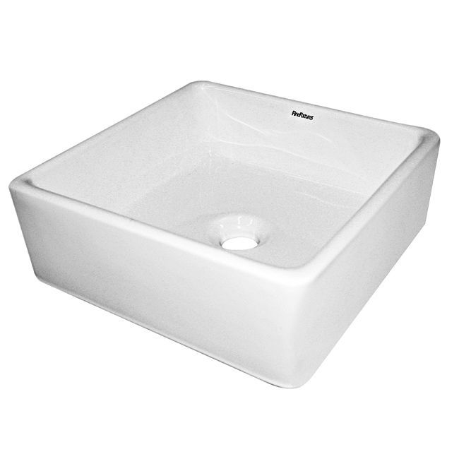3 Hole Vessel Sink : This vessel sink features a sleek rectangular shape with modern angles ...