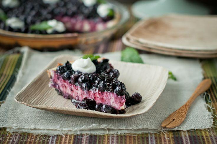Blueberry Cream Cheese Pie #Recipe. I would use graham cracker crumb ...