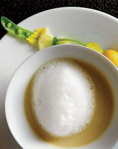 Sunchoke Soup with Potato, Lobster, and White-Truffle Foam Goosefoot ...
