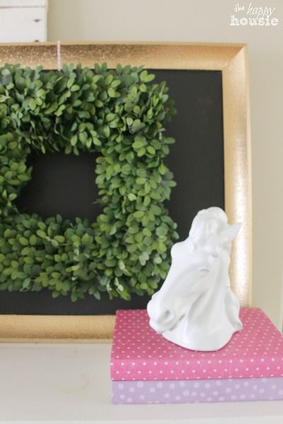 Pastel & Gold Spring Mantel and a Balsam Hill Giveaway