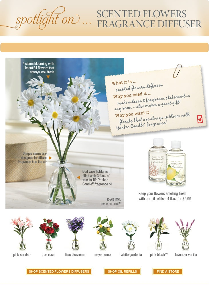 Scented Flowers Diffusers : Yankee Candle