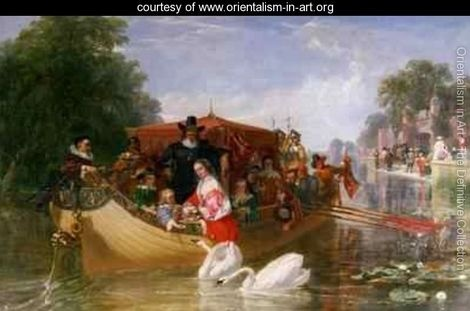 The Happier Days of Charles I - Frederick Goodall - www.orientalism-in-art.org