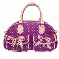 Polka Dot Small Overnight Bag - FREE SHIPPING
