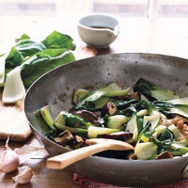 Stir-Fried Baby Bok Choy With Shiitake Mushrooms