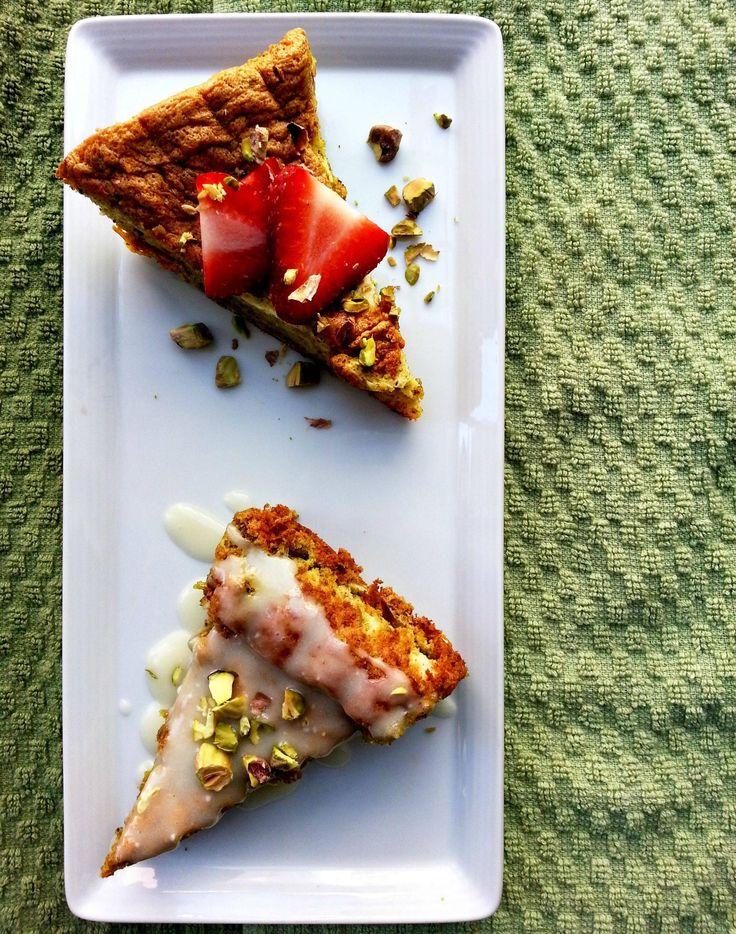 Cherry on My Sundae: Pistachio Cake with Meyer Lemon Glaze