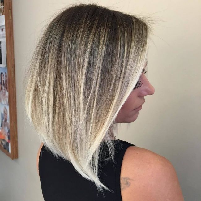 Dark ash blonde hair with