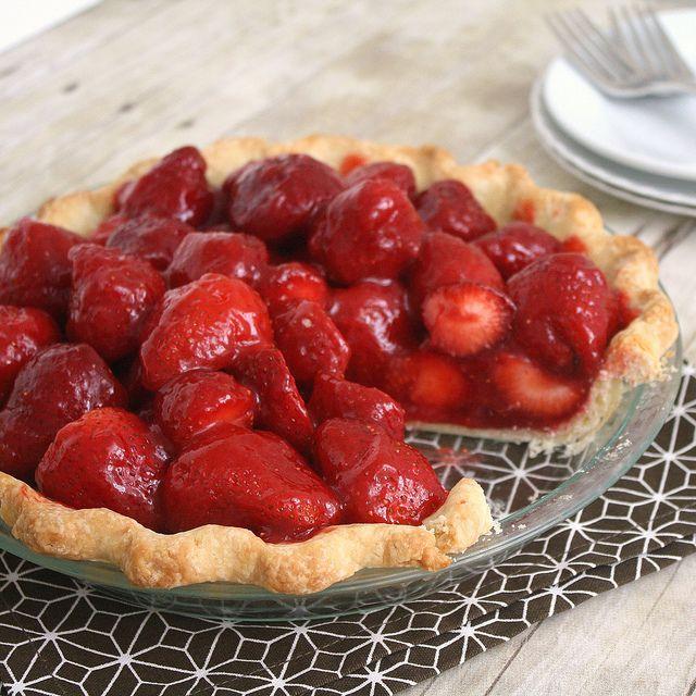 fresh strawberry pie   pies   Pinterest
