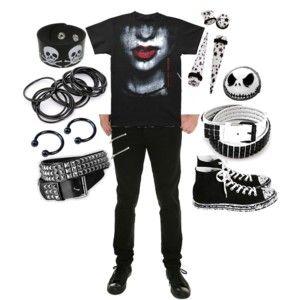 Black emo boy set on polyvore | mens fashion | Pinterest