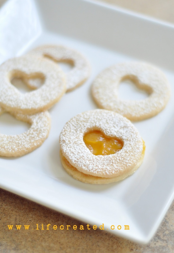 peach window shortbread cookies | C is for cookie | Pinterest