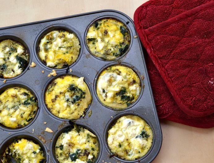 Eat Skinny Be Skinny: Mini Feta and Spinach Frittata Recipe (and ...