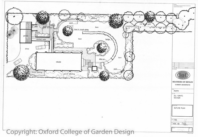 Pin by oxford college of garden design on town garden for Oxford garden designs