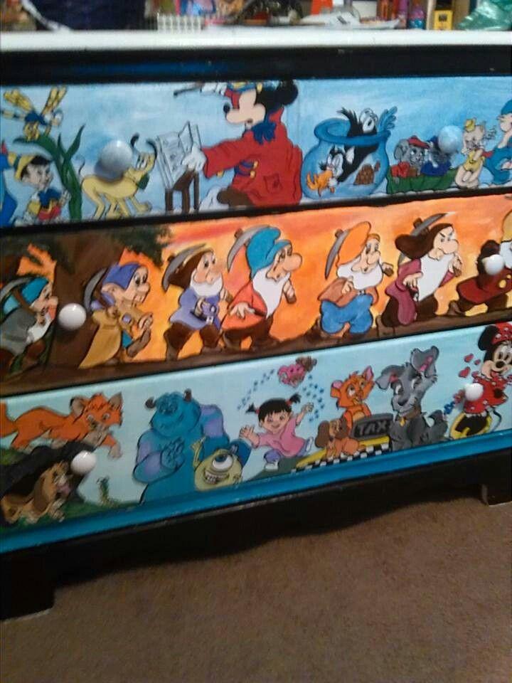 Disney bedroom dresser disney furniture pinterest for Bedroom furniture kabat