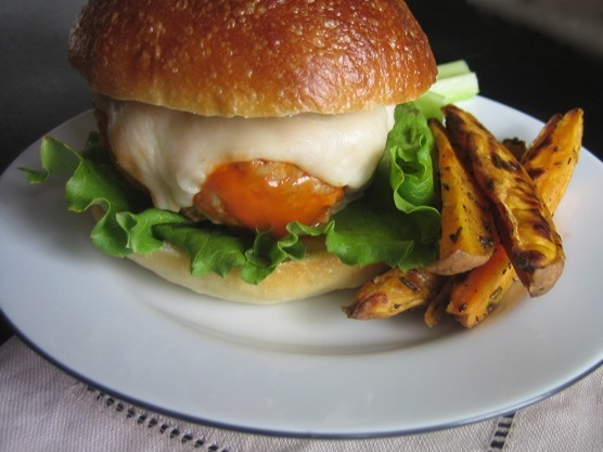 Buffalo Turkey Burgers. When I make these, I put 1/3 c. wing sauce in ...