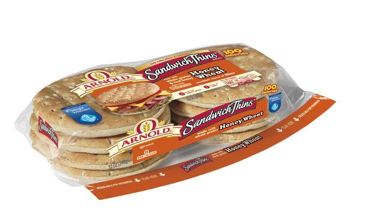 Arnold Honey Wheat Sandwich Thins® Rolls | Honey Wheat Sandwich Thins ...