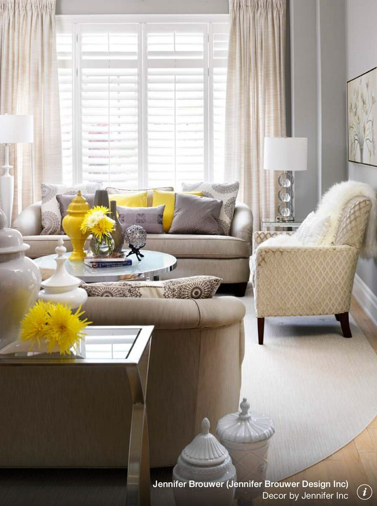 Gray And Yellow Living Room Decorating Ideas Pinterest