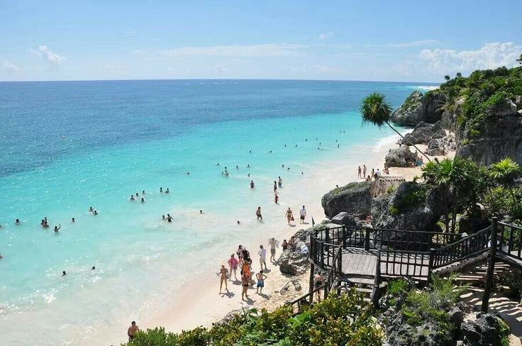 Beach at Tulum Mayan ruins, Mexico | Honeymoon | Pinterest: www.pinterest.com/pin/421368108858197835