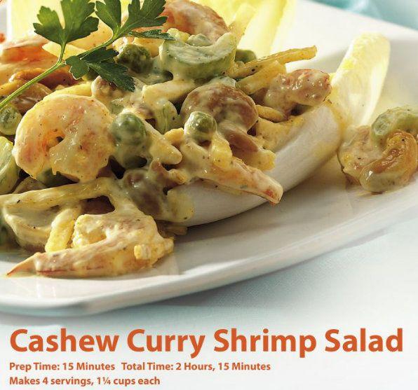 cashew curry shrimp salad recipe | Recipes for Health | Pinterest