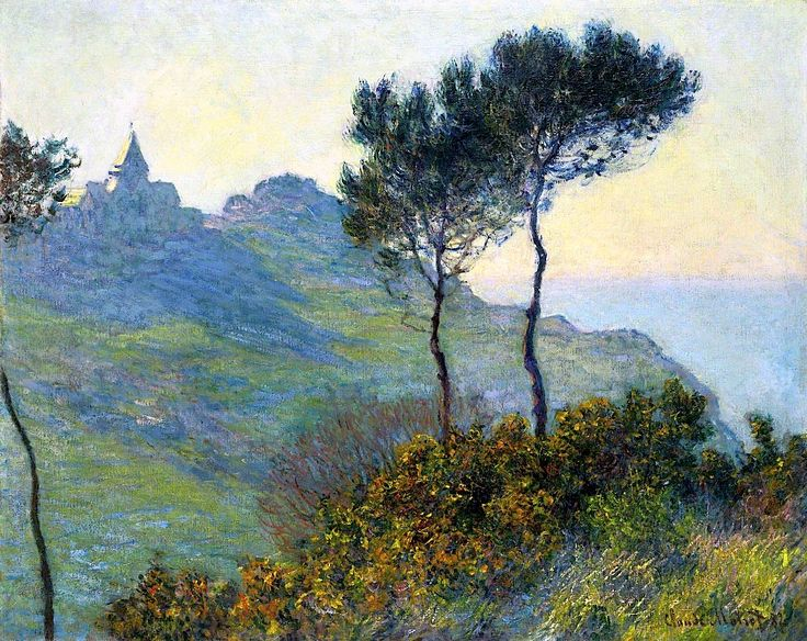CLAUDE MONET L'Église de Varengeville; soleil couchant, 1882
