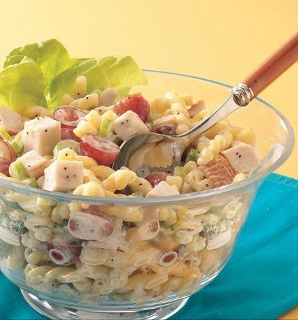 Recipe for Chicken Pasta Salad with Poppy Seed Dressing - Save time ...