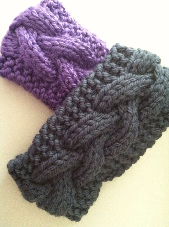 Hand Knitting : Hand Knit Ear Warmer