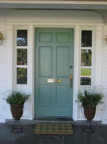 Blue Front Door Simple Of Blue Green Front Door Pictures