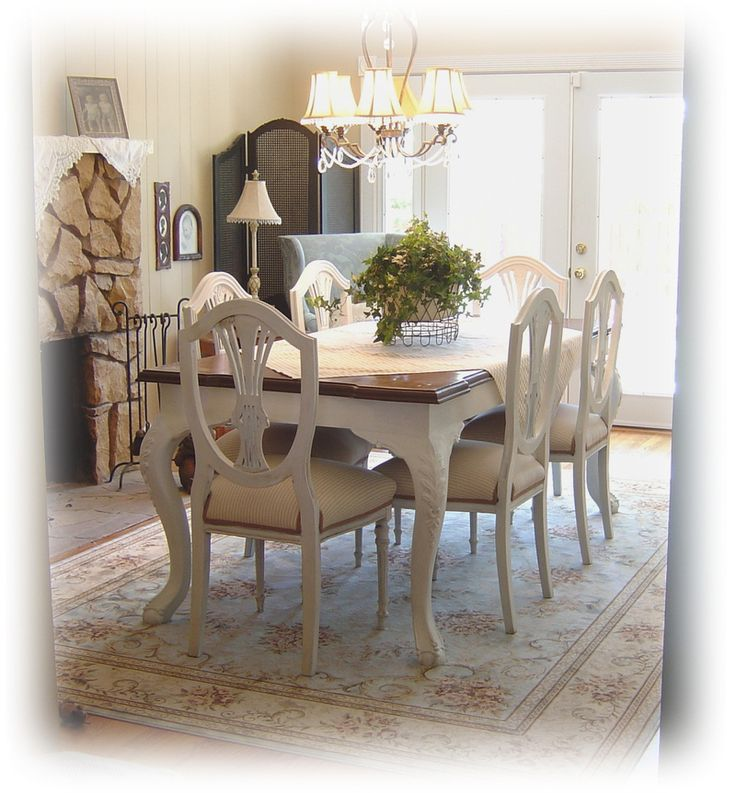 Pin by allison carr on home decor ideas pinterest for Painted dining room furniture ideas