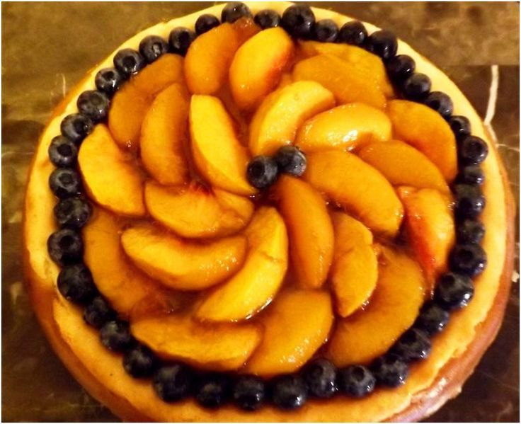 Bourbon Roasted Peach Cheesecake | 2 good 2 bTrue | Pinterest