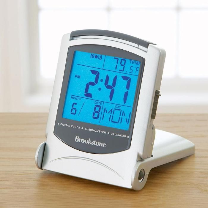 bright backlight travel alarm clock with temperature. Black Bedroom Furniture Sets. Home Design Ideas