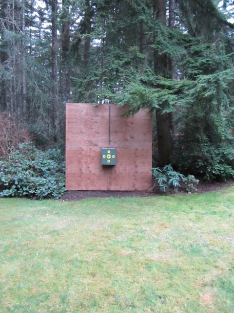 Setting up this backyard archery for target practice