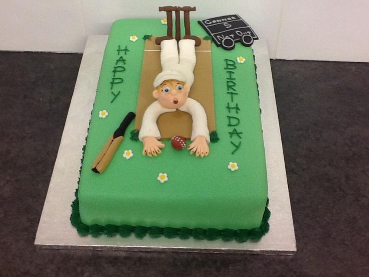 Cricket themed birthday cake Food Pinterest