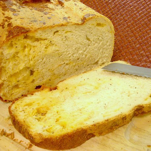 Garlic Cheese bread in the bread machine | Joyful Abode