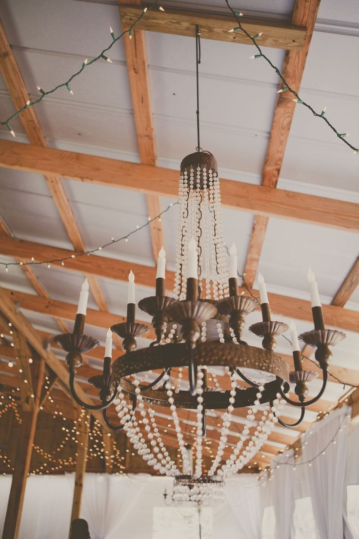 Genevieve Chandelier by Ballard Designs  I  wedding by Cross Creek Ranch