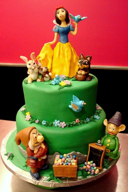 snow white cake designs
