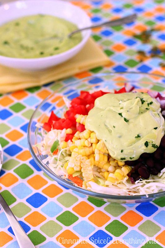 Southwestern Cole Slaw with Avocado Dressing and Pepitas | Cinnamon ...
