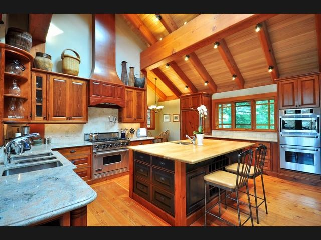 Cathedral ceiling kitchen kitchens pinterest for Cathedral ceiling kitchen designs
