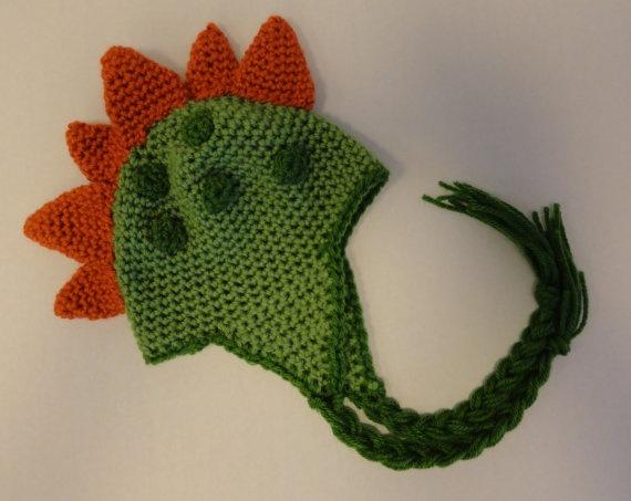 Dorothy Dinosaur Knitting Pattern : dinosaur hat Crochet Pinterest