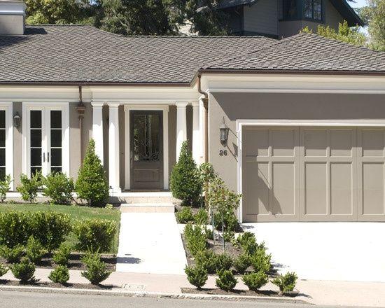Grey stucco white trim pinterest - Exterior grey paint colors decor ...