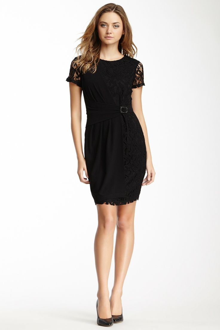 Ellen Tracy Lace Trim Dress on HauteLook  dresses  Pinterest